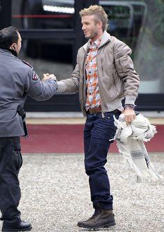 David Beckham Leather Belt