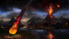 Volcano Lightning Backgrounds x Full HD Wall