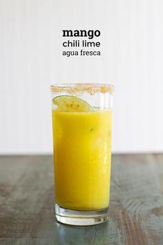 Sparkling Mango Chili Lime Agua Fresca | Girl Versus Dough