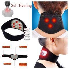 2pcs Self-heating Neck Magnetic Belt Migraine, Vértebra Cervical, Cervical Vertebrae, Braces Pain, Point Acupuncture, Stiff Neck, Perfect Posture, Circulation Sanguine, Posture Corrector