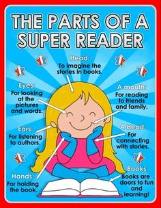 Back to School - Parts of a Reader - Superhero... by The Super Classroom | Teachers Pay Teachers