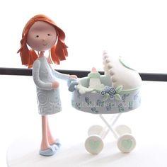 Mom-to-be 🍼 #mutludukkan #sekerhamuru #sugarart #butikpasta Fondant Tutorial, Pasta Flexible, Cakes For Boys, Sugar Art, Let Them Eat Cake, Cake Toppers, Mom, Characters, Shower Baby