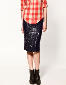 Zara sequinned studio skirt...wish I could wear this to work.