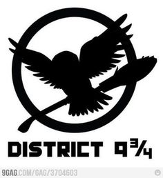 My district, 9 3/4.  HAHA love it.  Harry Potter was my first book series obsession. <3 you forever, Harry!