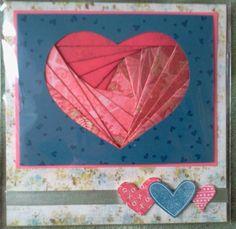 Coeur en Iris Folding