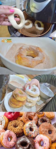 Donuts Americanos na AirFryer Portuguese Recipes, Small Cake, Love Eat, Air Fryer Recipes, Coffee Break, Sweet Recipes, Food And Drink, Cooking Recipes, Tasty