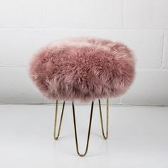 Footstool Pouffe Sheep Stool With Storage Box In Lovely Pink And Black Colour
