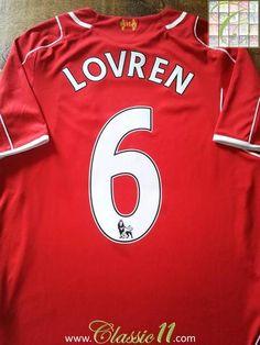 Relive Dejan Lovren's 2014/2015 Premier League season with this original Warrior Liverpool home football shirt.