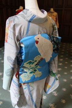 """Early 20th century kimono exhibit at the Western-style mansion referred to as the """"Old Maeda Marquis House, situated in Tokyo, Japan. Image set 2"""