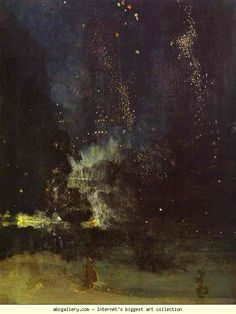 Nocturne in Black and Gold: The Falling Rocket, 1874-1877, oil on panel, James Whistler
