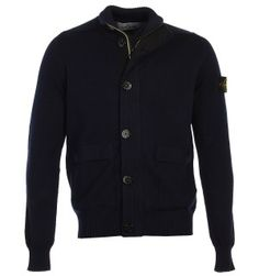 Stone Island Navy Full Zip Sweater