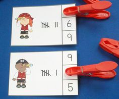 ARRRRGH you ready for Talk Like a Pirate Day?  Pirate Fun Math Centers (Numerals to 20)  $   #pirates  #tallymarks #TalkLikeAPirateDay #kampkindergarten #clipcards https://www.teacherspayteachers.com/Product/Pirate-Fun-Math-Centers-Numerals-to-20-2062910