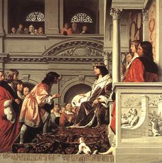 Caesar van Everdingen - Graaf Willem II verleent het handvest aan het Hoogheemraadschap van Rijnland