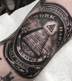 Work hard, Stay humble, Self made  Detailed B&G tattoo art  Artist IG: @oscartatt2