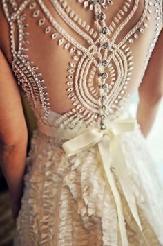 The detailing on this gown is stunning! #SocialblissStyle #Wedding #Gown