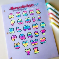 ✧・゚ Rosyestudies ✧・゚ ( Hand Lettering Alphabet, Doodle Lettering, Types Of Lettering, Lettering Styles, Graffiti Lettering, Doodle Fonts, Graffiti Alphabet, Doodle Art, Bullet Journal Titles