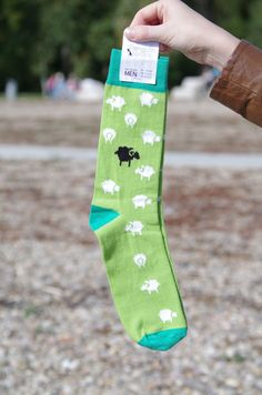 Funny Socks for Men - Sheep in the Green meadow   http://etsy.me/2zq8cEp  Colorful socks | Crazy socks | Happy socks | Men socks | Creative socks | Gift for Men   #clothing #men #socks #christmas #green #wedding #funnysocks #greensocks #colorfulsocks #mensocks #crazysocks