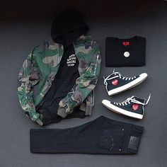 Shop our feed, hit link in bio. or : by : : : x for on-feet and model photos for outfit lay down photos Toms Outfits, Converse Outfits, Tenis Converse, Big Men Fashion, Urban Fashion, Casual Fall Outfits, Fall Outfits For School, Trending Shoes For Men, Hype Clothing