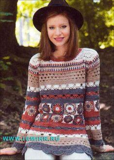 ergahandmade: Crochet Blousa + Free Pattern + Diagrams