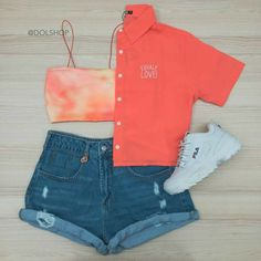 Teenage Outfits, Lazy Outfits, Tumblr Outfits, Cute Girl Outfits, Cute Summer Outfits, Swag Outfits, Mode Outfits, Cute Casual Outfits, Short Outfits