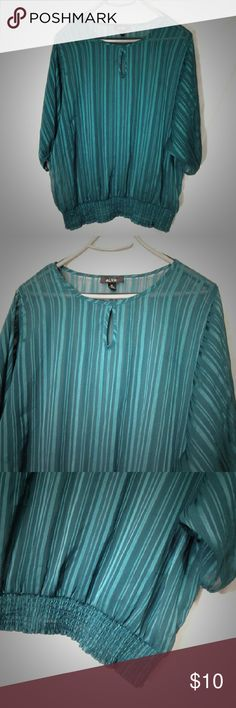 """Sheer Blouse Measurements: 26"""" shoulder to hem  25"""" armpit to armpit   Material: No tag  Condition: No flaws  🛍 Bundle for a 20% discount 🛍 👍 Offers Considered 👍 ❌ No Model ❌ Alyx Tops Blouses"""