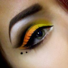 An intense look! Love the combo of orange/yellow.