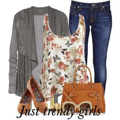 floral top outfit  Casual floral outfits for woman http://www.justtrendygirls.com/casual-floral-outfits-for-woman/