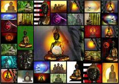 Buddha Collage Bilder: Poster von Claudia Burlager Digital-Art bei Posterlounge.de