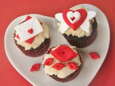 Love Letter Valentine S Day Fondant Cupcake Cake Or