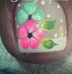 Pretty Toe Nails, Cute Toe Nails, Toe Nail Art, French Manicure Designs, Pedicure Designs, Toe Nail Designs, Summer Toe Designs, Nail Designs Spring, Summery Nails