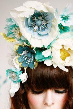 inspiration   paper blooms   belathée photography   via: 100 layer cake