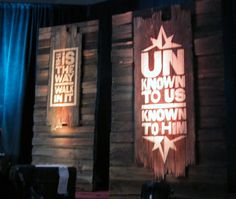 Decor for stage (or anywhere), from Lifeway's Preview Event in Fort Worth, TX. Image Only