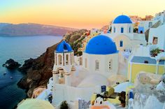 Santorini, Greece:   Famous for distinct architecture and sunsets that will blow you away, Santorini is a volcanic island set in the Aegean Sea.  Check out the black sand beaches of Perissa, the historic hilltop village of Oia and the island's incredible wineries.