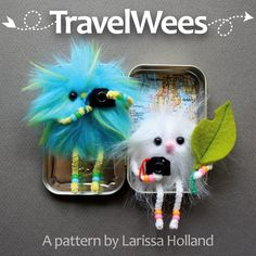 TravelWees pattern - cute pattern for a little critter to live and travel in an Altoids tin. Pdf pattern for $8.