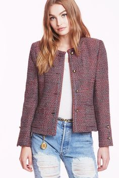 Chanel Rosette Blazer!  How to Make Any Outfit Party-Ready in One Step via @WhoWhatWear