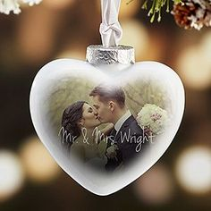This personalized Christmas Ornament is STUNNING! I LOVE how the photo beautifully fades! This is the perfect Christmas gift idea for newlyweds - what better way to celebrate your first Christmas as Mr. and Mrs. than with a one-of-a-kind ornament you'll treasure forever!