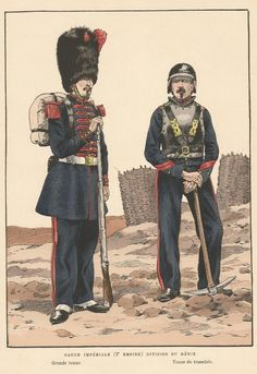 French; Imperial Guard, Division de Genie, Grande Tenue & Tenue de Tranchee, 2nd Empire by JOB