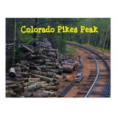 Colorado Pikes Peak Wood Pile Post Card - postcard post card postcards unique diy cyo customize personalize