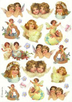 Ricepaper/ Decoupage paper, Scrapbooking Sheets /Craft Paper Vintage Angels #Decoupage