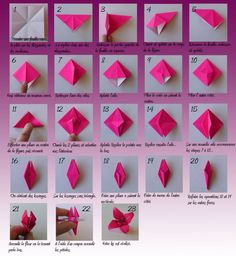 Best Ideas For Origami Facile Fleur De Lys Origami Design, Instruções Origami, Origami Lily, Origami Star Box, Origami Butterfly, Origami Folding, Useful Origami, Origami Ideas, Origami Instructions