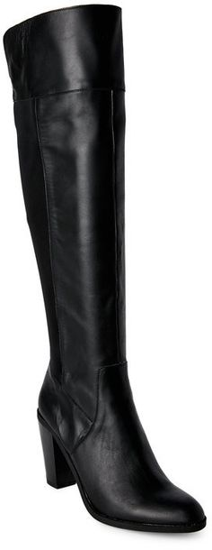093bad914c9 kenneth cole reaction Black Very Clear Over The Knee Boots