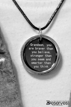 Help build your grandson's faith in himself with this necklace from Deserves.com. It will remind him that you see his potential and love him unconditionally, while giving him strength. Plus, get a free Deserves.com VIP Lifetime Membership with any order. Get exclusive deals on gifts, toys, art and other beautiful gifts for you and your family.