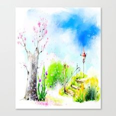 WIND BLOW-CHERRY BLOSSOM Canvas Print