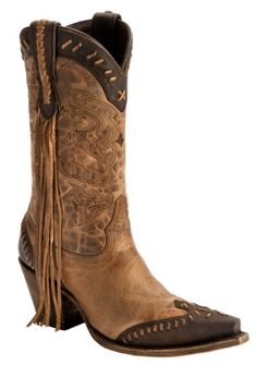 Lucchese Handcrafted 1883 Fringe Wingtip Cowgirl Boots - Snip Toe - Sheplers