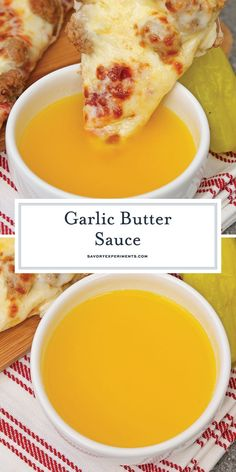 If you've ever wondered how to make garlic butter sauce, wonder no more. This re… If you've ever wondered how to make garlic butter sauce, wonder no more. This recipe is just like the Papa John's dipping sauce for pizza or breadsticks! Garlic Sauce For Pizza, Garlic Dipping Sauces, Homemade Garlic Butter, Garlic Butter Sauce, Homemade Sauce, Garlic Butter Recipe For Pizza, Garlic Sauce Recipes, Butter Sauce For Pasta, Garlic Butter Injection Recipe
