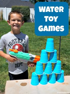 Beat the Heat with Water Gun Games - Lots of fun ideas for outdoor play at Mom Always Finds Out #ad