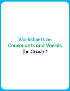 Worksheets on Consonants and Vowels for Grade 1 - Your Home Teacher Grade 1, Worksheets, Room Ideas, Teacher, Math Equations, Angels, Bts, Professor, Teachers