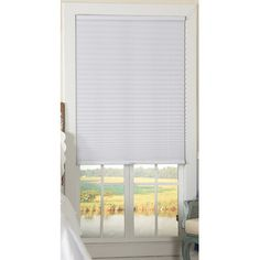 """Symple Stuff Light Filtering Cordless Pleated Shade Size: 34"""" W x 72"""" L x 1.75"""" D, Color: White"""