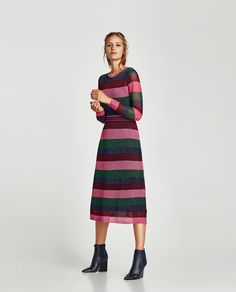 ZARA - WOMAN - STRIPED OPENWORK DRESS