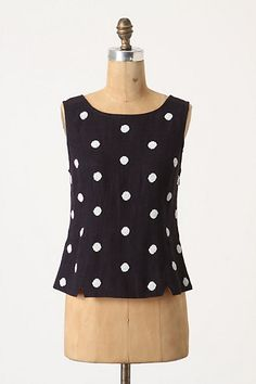 Ivory Dotted Shell #anthropologie